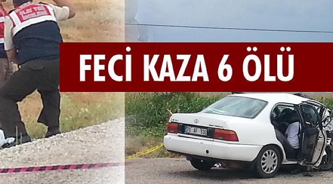 KÖY YOLUNDA FECİ KAZA 2'Sİ ÇOCUK 6 KİŞİ ÖLDÜ