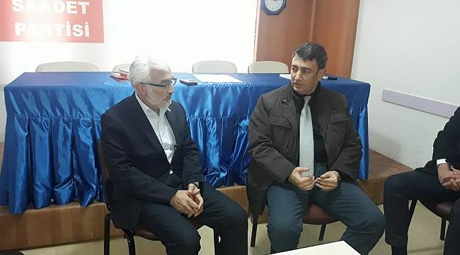 CHP'DEN SAADET PARTİSİ VE STK'LARA ZİYARET