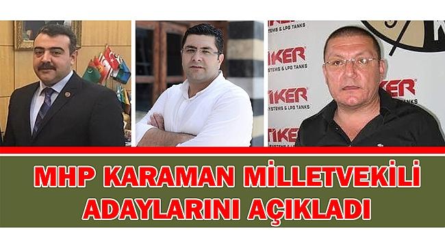 MHP'NİN ADAY LİSTESİ AÇIKLANDI