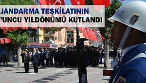 KARAMAN'DA JANDARMA TEŞKİLATININ 179'UNCU YILDÖNÜMÜ KUTLANDI