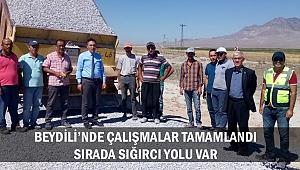 BEYDİLİ'NDE ÇALIŞMALAR TAMAMLANDI: SIRADA SIĞIRCI YOLU VAR
