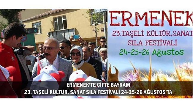 ERMENEK'TE ÇİFTE BAYRAM