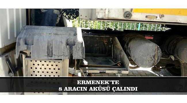 ERMENEK'TE 8 ARACIN AKÜSÜ ÇALINDI