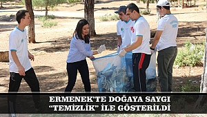 """ERMENEK'TE DOĞAYA SAYGI """"TEMİZLİK"""" İLE GÖSTERİLDİ"""