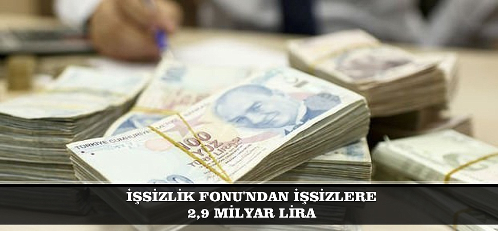 İŞSİZLİK FONU'NDAN İŞSİZLERE 2,9 MİLYAR LİRA