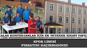 SPOR LİSESİ FIRSATINI KAÇIRMADINIZ!