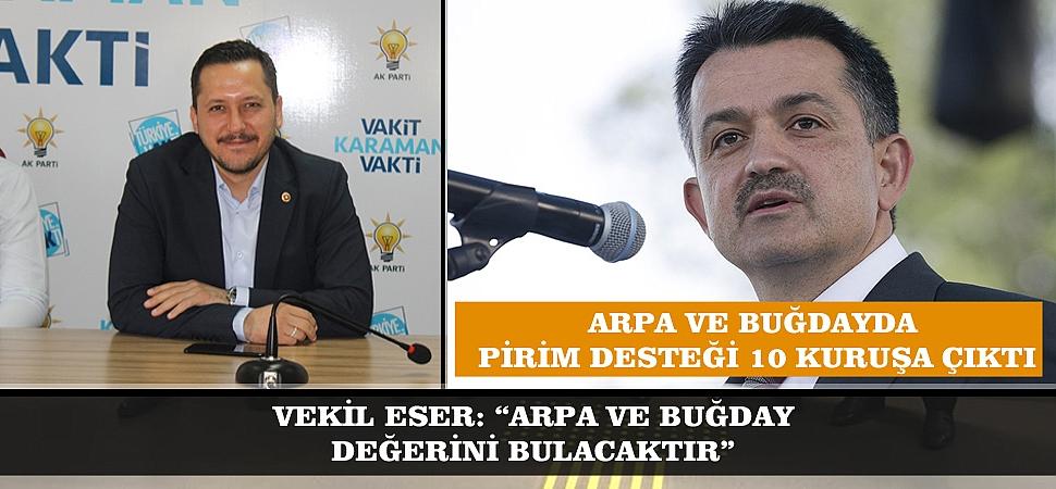 """VEKİL ESER: """"ARPA VE BUĞDAY DEĞERİNİ BULACAKTIR"""""""