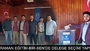 KARAMAN EĞİTİM-BİR-SEN'DE DELEGE SEÇİMİ YAPILDI