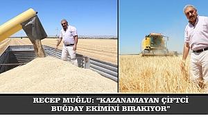 """RECEP MUĞLU: """"KAZANAMAYAN ÇİFTCİ, BUĞDAY EKİMİNİ BIRAKIYOR"""""""