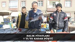 BALIK FİYATLARI 7 TL'YE KADAR DÜŞTÜ