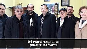 İYİ PARTİ TAŞELİ'YE ÇIKARTMA YAPTI