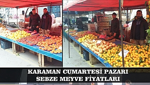 KARAMAN CUMARTESİ PAZARI SEBZE MEYVE FİYATLARI