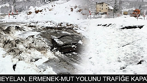 HEYELAN, ERMENEK-MUT YOLUNU TRAFİĞE KAPATTI