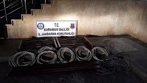 KARAMAN'DA KABLO HIRSIZLIĞI