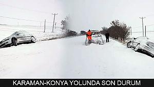 KARAMAN-KONYA YOLUNDA SON DURUM