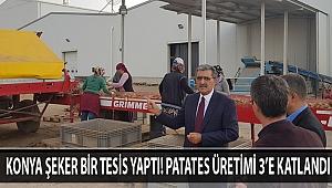 KONYA ŞEKER BİR TESİS YAPTI! PATATES ÜRETİMİ 3'E KATLANDI