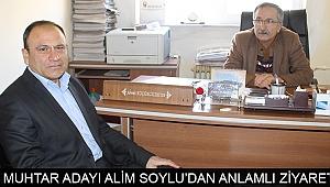 MUHTAR ADAYI ALİM SOYLU'DAN ANLAMLI ZİYARET