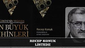 RECEP KONUK FORBES LİSTESİNDE