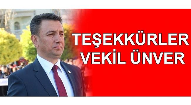 TEŞEKKÜRLER VEKİL ÜNVER