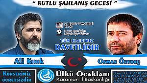 Ali Kınık ve Osman Öztunç Karaman'a geliyor