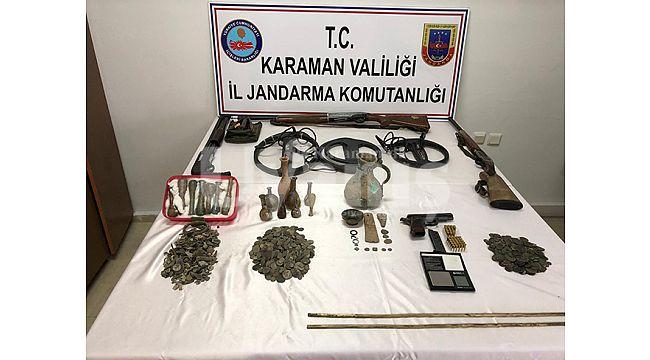 Karaman'da 2 Bin 465 Adet Tarihi Eser Ele Geçirildi