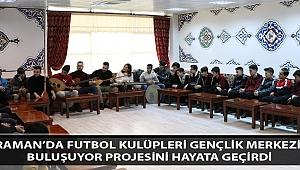 Karaman'da Futbol Kulüpleri Gençlik Merkezi İle Buluşuyor Projesini Hayata Geçirdi
