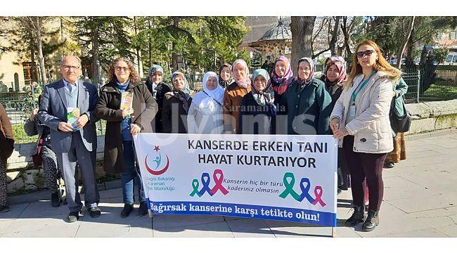Karaman'da Vatandaşlara Kanserle Mücadele Anlatıldı