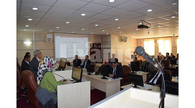 Karaman İl Genel Meclisinin Şubat Ayı Toplantısı Başladı