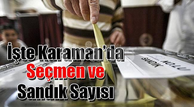 İşte Karaman'da seçmen ve sandık sayısı