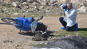 Karaman'da motosiklet devrildi: 1 ölü