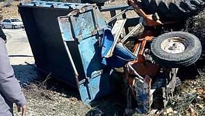 Karaman'da traktör devrildi: 2 ağır yaralı