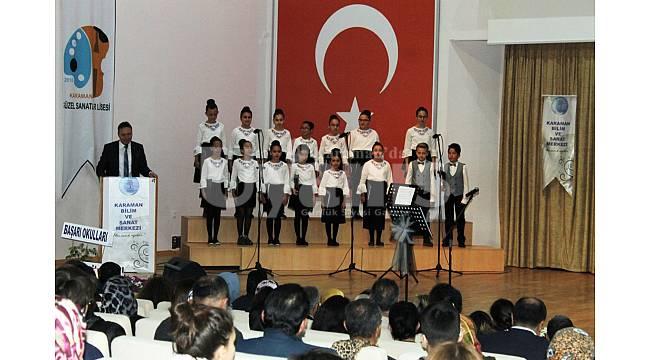 Karaman BİLSEM'den muhteşem konser