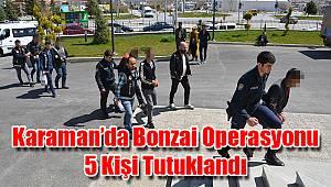 Karaman'da bonzai operasyonu: 5 kişi tutuklandı