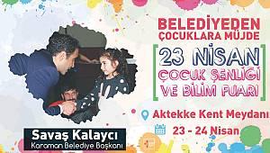 Karaman'da Çocuk Şenliği ve Bilim Fuarı düzenleniyor
