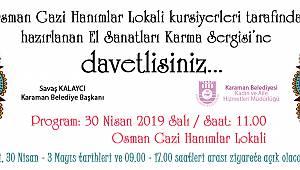 Karaman'da el sanatları karma sergisi açılıyor