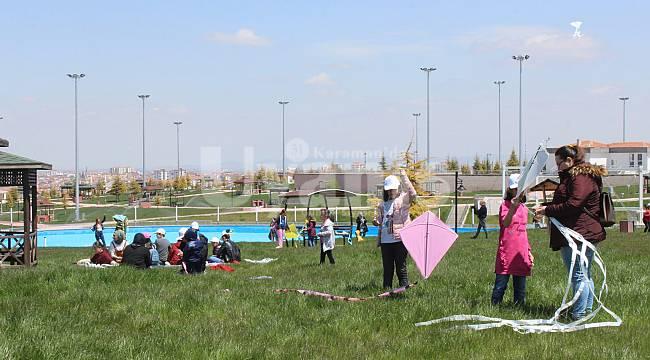 Karaman'da uçurtma şenliği düzenlendi