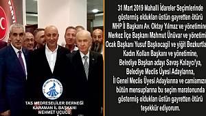 Taş Medreseliler'den MHP'ye teşekkür