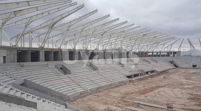 15 bin kişilik yeni stadyumda sona doğru