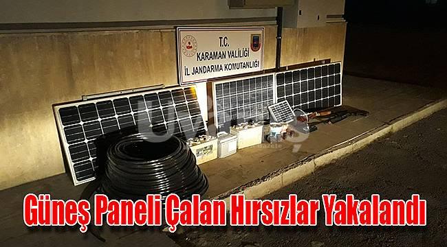 Güneş paneli çalan hırsızlar yakalandı