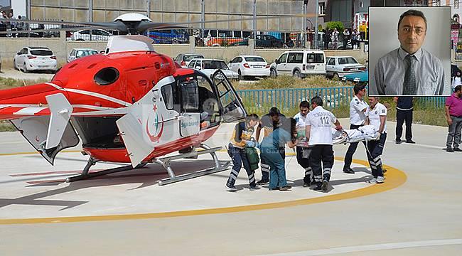 Hava ambulansı diş hekimi için havalandı