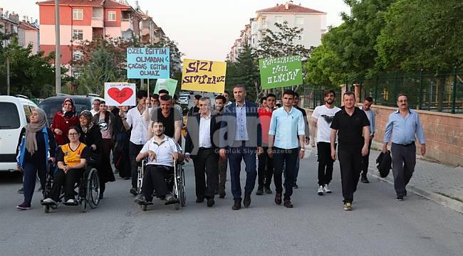 Karaman'da farkındalık yürüyüşü düzenlendi