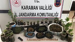 Karaman'da kubar esrar ve kenevir operasyonu