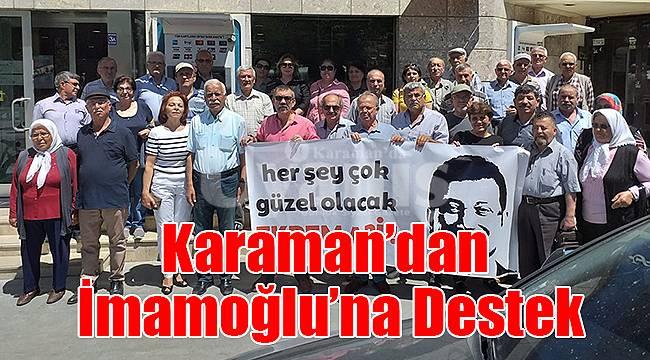 Karaman'dan İmamoğlu'na destek