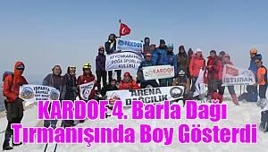 KARDOF 4. Barla Dağı Tırmanışında Boy Gösterdi