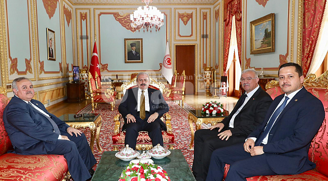 AK Parti'den TBMM Başkanı Şentop'a ziyaret