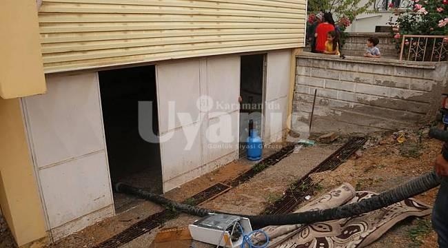 Karaman Belediyesi su baskınlarına müdahale etti