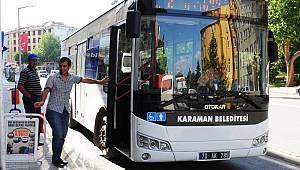 Karaman'da bayram boyunca belediye otobüsleri ücretsiz