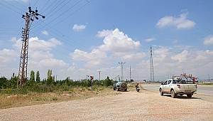 Karaman'da elektrik akımına kapılan işçi yaralandı