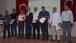 Karaman'da en çok kan bağışlayanlara ödül