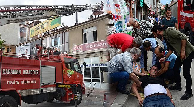 Karaman'da korkutan yangın